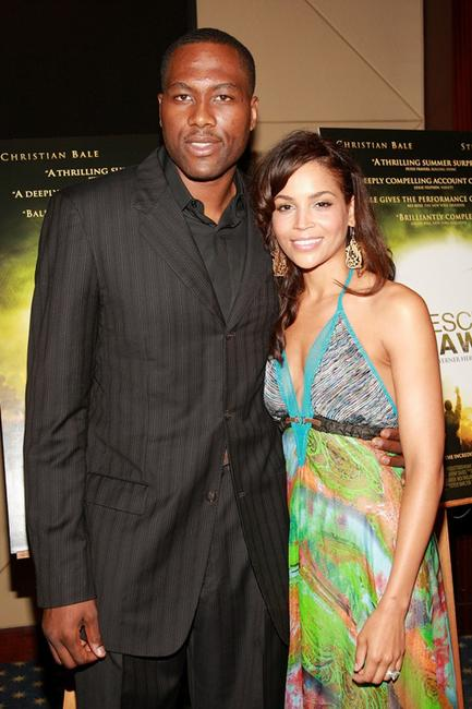 Elton Brand and Shahara at the premiere of