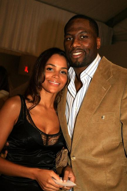 Elton Brand and Guest at the Olympus Fashion Week.