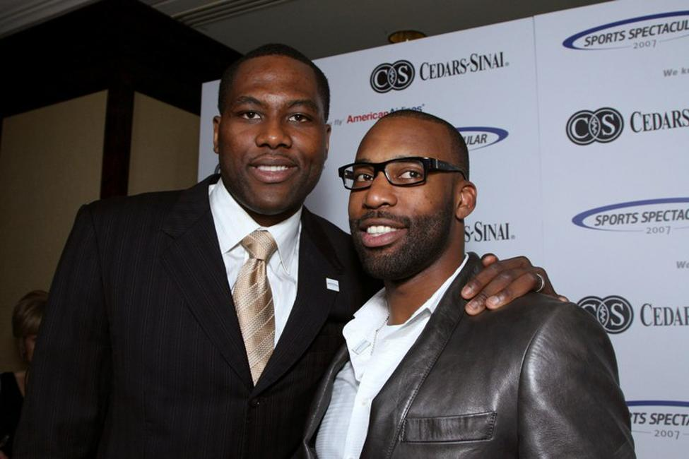 Elton Brand and Baron Davis at the 22nd Annual Cedars-Sinai Sports Spectacular.