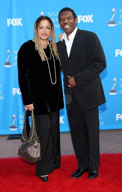 Kasi Lemmons and Vondie Curtis-Hall at the 39th NAACP Image Awards.