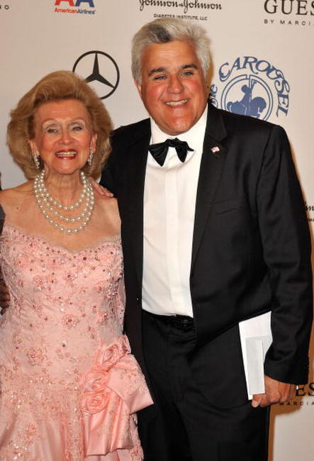 Barbara Davis and Jay Leno at the 30th anniversary Carousel of Hope Ball to benefit the Barbara Davis center for childhood diabetes.