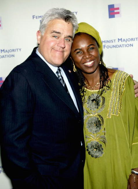 Jay Leno and Hauwa Ibrahim at the Feminist Majority Foundation's Inaugural Global Women's Rights Awards.