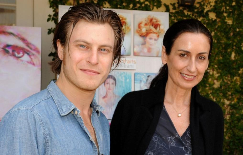 Noah Segan and photographer Anyes Galleani at the 2008 DPA Garden Party gift suite.