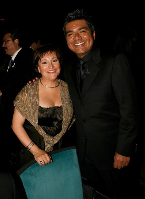Belita Moreno and George Lopez at the 2007 NCLR ALMA Awards.