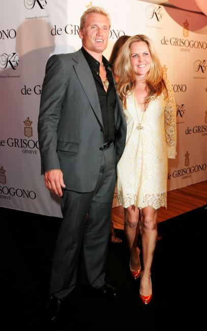 Dolph Lundgren and Anette Qviberg at the de Grisogono party during the 60th International Cannes Film Festival.