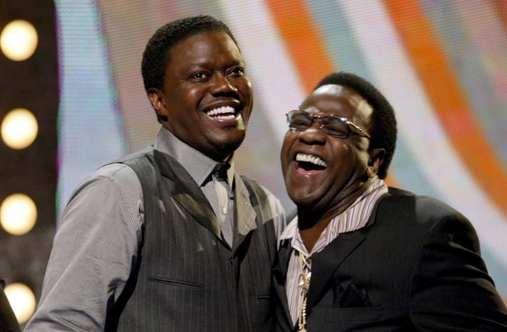 Bernie Mac and singer Al Green at the VH1's Big In 2003 Awards.