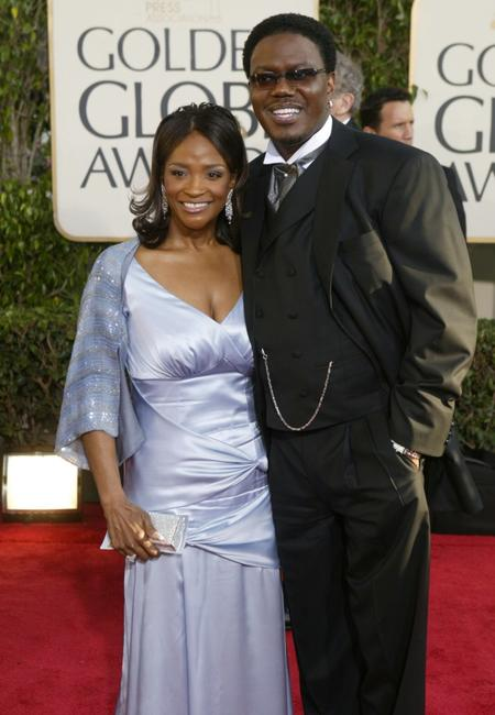 Bernie Mac and his wife Rhonda at the 61st Annual Golden Globe Awards.