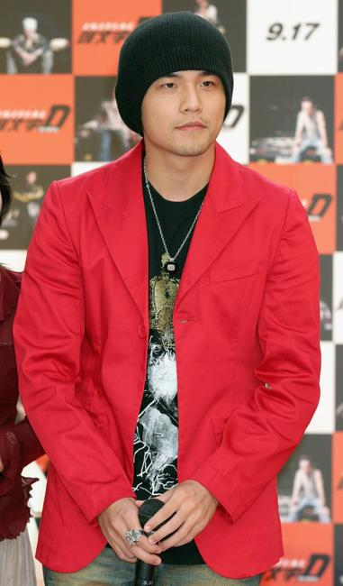 Jay Chou at the press conference of