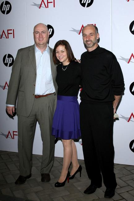 Shawn Ryan, Cathy Cahlin and David Marciano at the AFI Awards 2008.