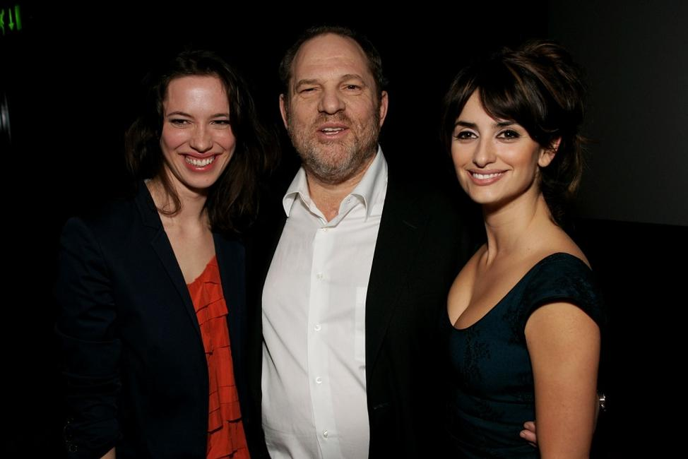 Rebecca Hall, Harvey Weinstein and Penelope Cruz at the screening of