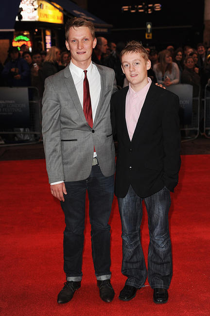 Director Tom Harper and Thomas Turgoose at the London premiere of