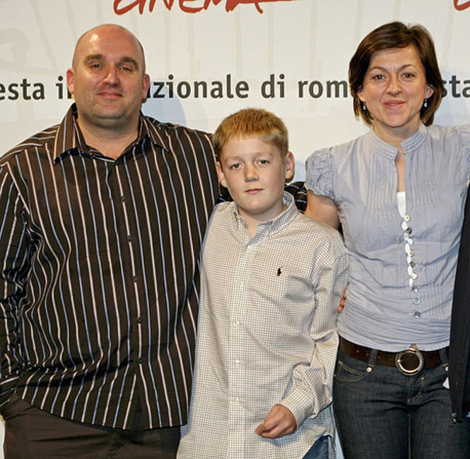 Director Shane Meadows, Thomas Turgoose and Jo Hartley at the photocall of