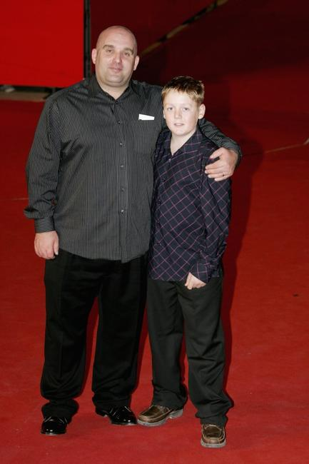 Shane Meadows and Thomas Turgoose at the premiere of