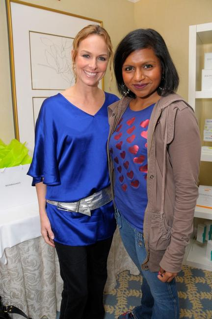 Melora Hardin and Mindy Kaling at the Luxury Lounge in honor of the 2008 SAG Awards.