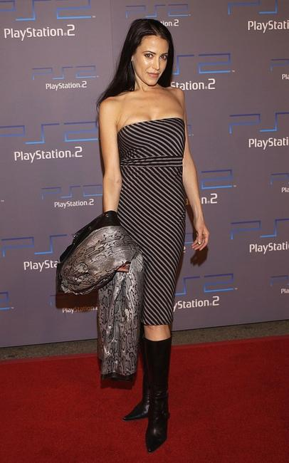 Leslie Bega at the Playstation 2 celebration for this year's Electronic Entertainment Expo.