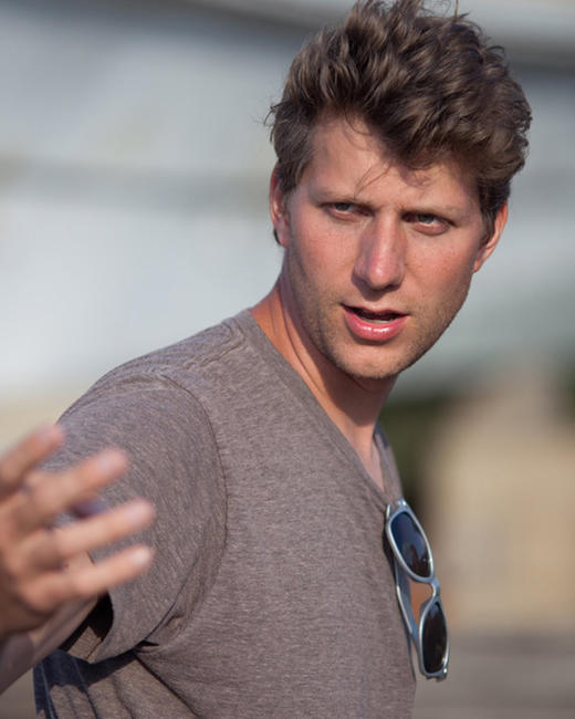 Director Jeff Nichols on the set of