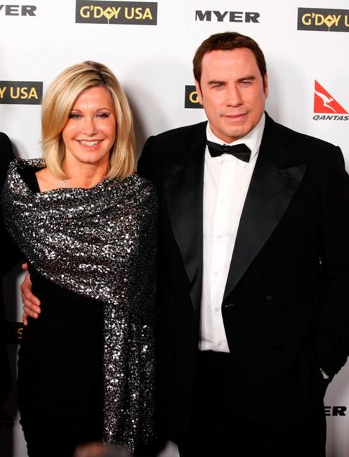 Olivia Newton-John and John Travolta at the Australia Week 2010 Black Tie Gala.