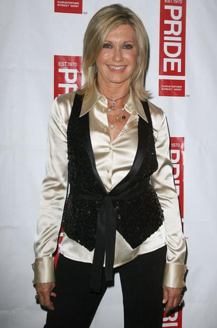 Olivia Newton-John at the Los Angeles Gay Pride.