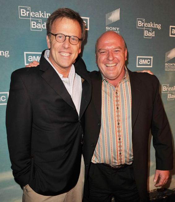 Mark Johnson and Dean Norris at the season two premiere of