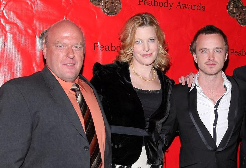 Dean Norris, Anna Gunn and Aaron Paul at the 68th annual George Foster Peabody Awards.