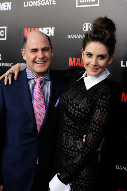 Producer Matthew Weiner and Alison Brie at the Season 5 California premiere of