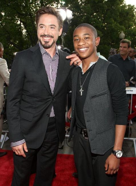 Robert Downey Jr. and Justin Martin at the premiere of