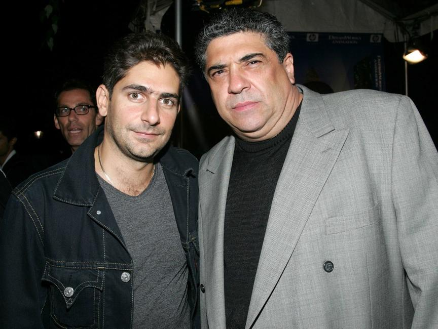 Michael Imperioli and Vincent Pastore at the premiere of