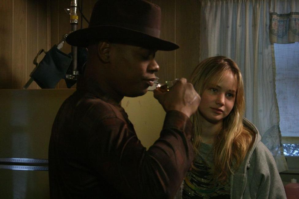Bokeem Woodbine and Jennifer Lawrence in