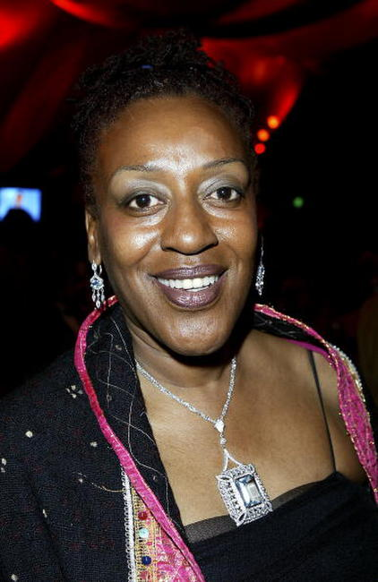 CCH Pounder at the Children Uniting Nations program party.