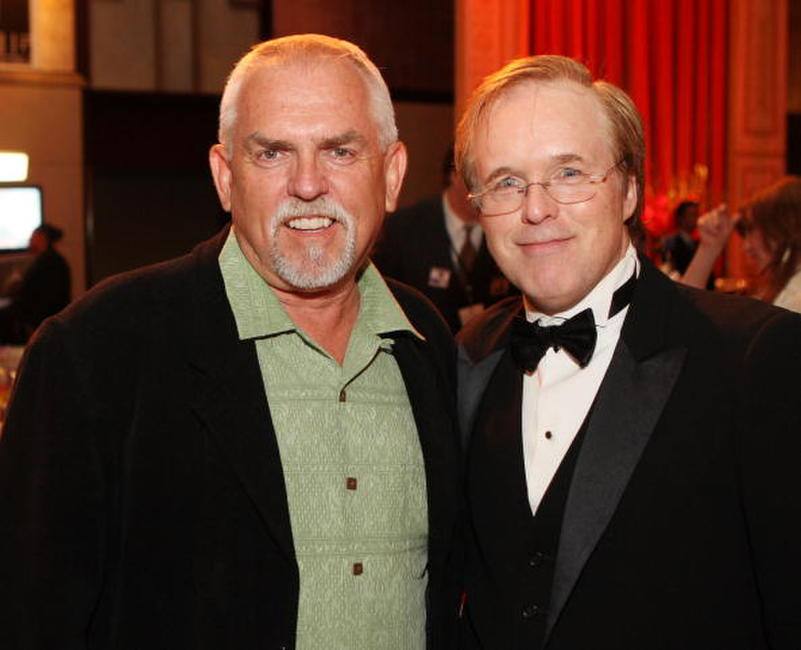 John Ratzenberger and director Brad Bird at the premiere of