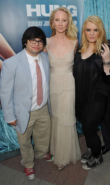 Charlie Saxton, Anne Heche and Sianoa Smit-McPhee at the California premiere of