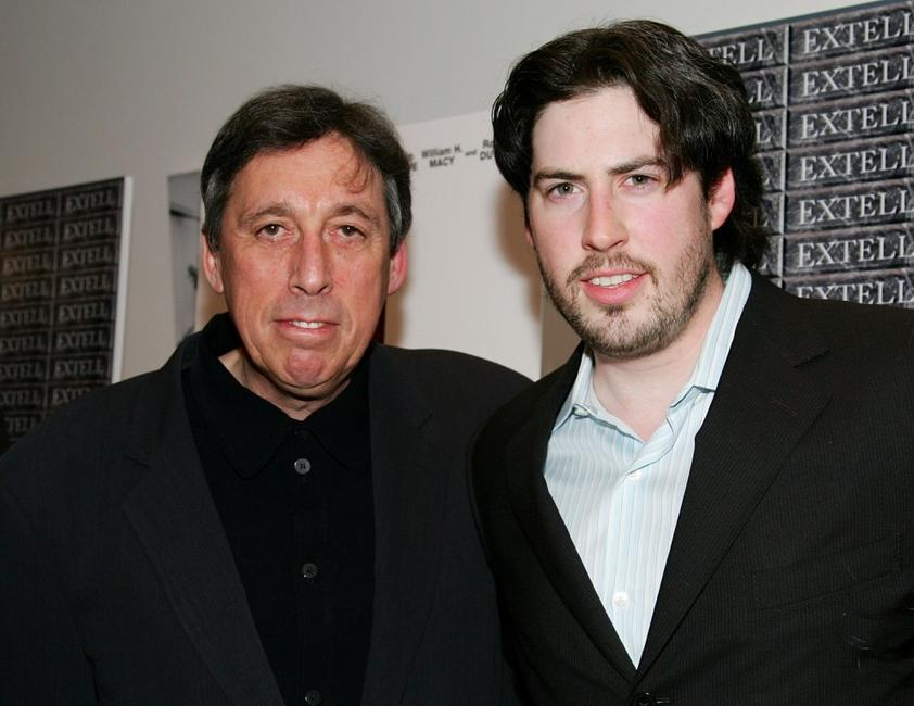 Ivan Reitman and Jason Reitman at the premiere of