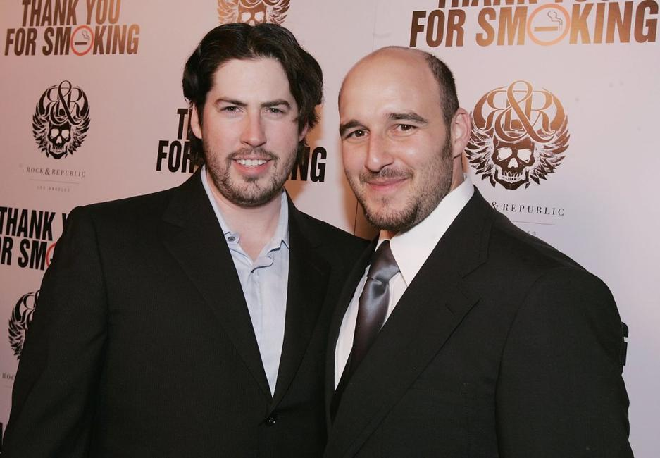 Jason Reitman and Daniel Dubiecki at the premiere of