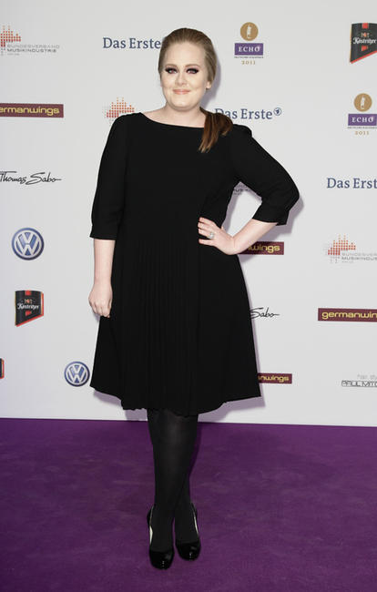 Adele at the Echo Award 2011 in Berlin.