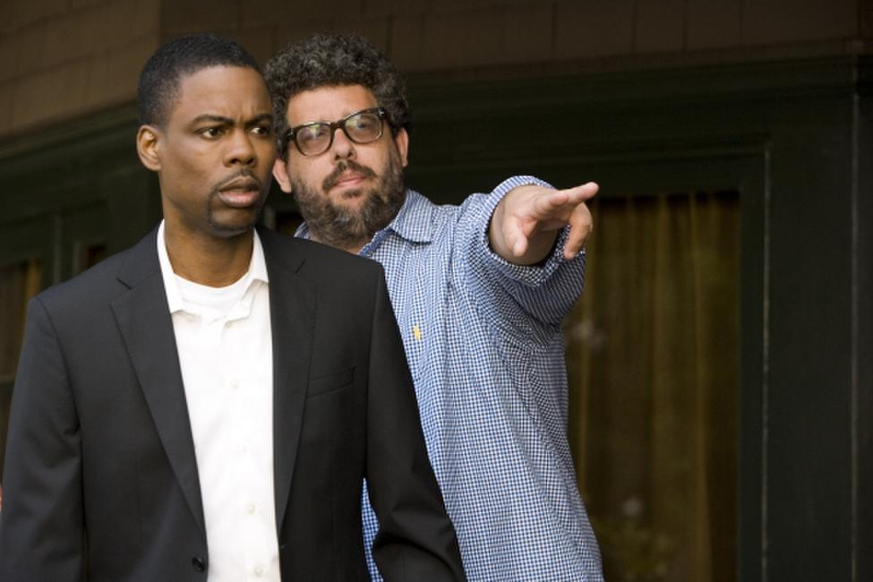 Chris Rock and director Neil LaBute on the set of