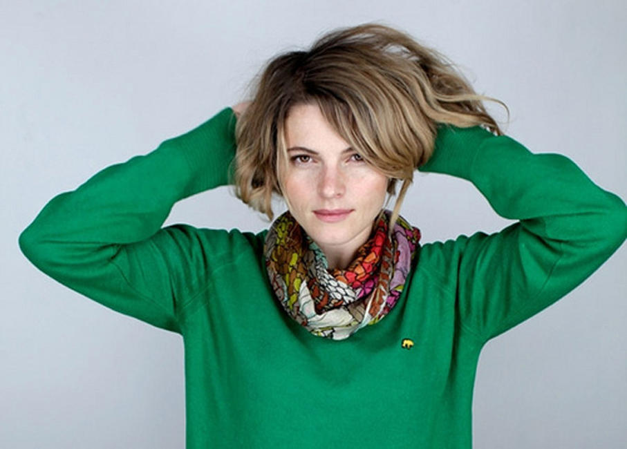 Director Amy Seimetz on the set of