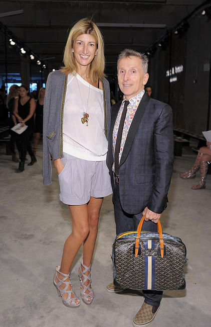 Sarah Rutson and Simon Doonan at the Rag & Bone Spring 2011 Fashion show during the Mercedes-Benz Fashion Week.