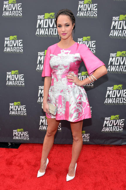 Alexis Knapp at the 2013 MTV Movie Awards in California.