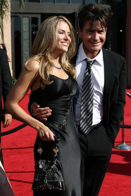 Charlie Sheen and Brooke Mueller at the 59th Annual Primetime Emmy Awards at the Shrine Auditorium.