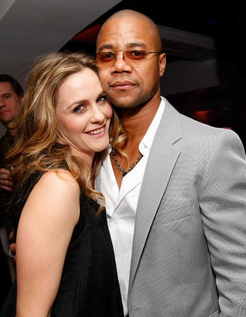 Alicia Silverstone and Cuba Gooding Jr at the