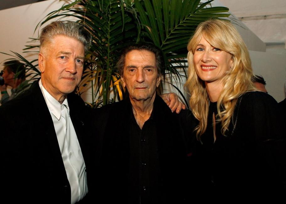 Director David Lynch, Harry Dean Stanton and Laura Dern at the after party of the Centerpiece Gala screening of