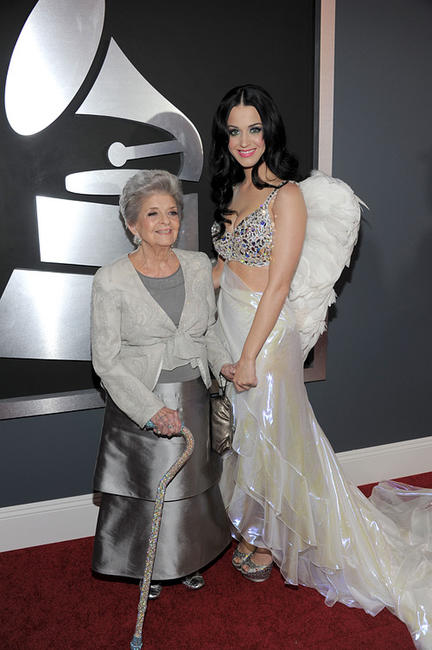 Katy Perry and Guest at the 53rd Annual GRAMMY Awards.