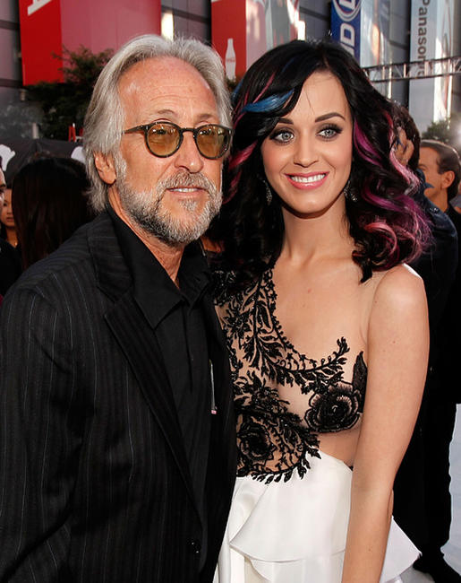 President of RIAA Neil Portnow and Katy Perry at the 2010 MTV Video Music Awards.