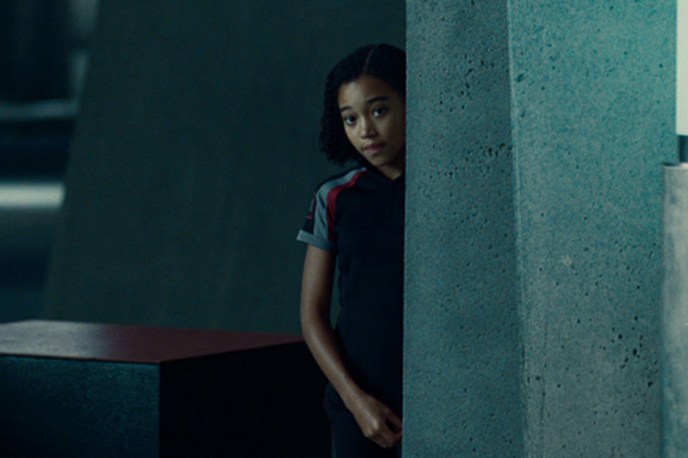 Amandla Stenberg as Rue in ``The Hunger Games.''
