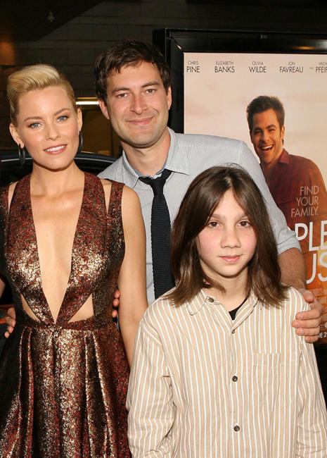 Elizabeth Banks, Mark Duplass and Michael Hall D'Addario at the California premiere of