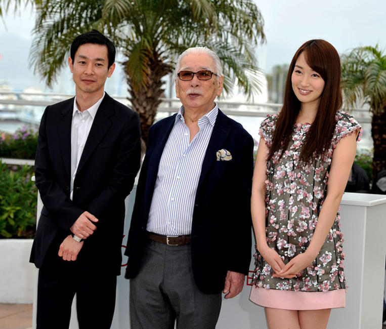 Ryo Kase, Tadashi Okuno and Rin Takanashi at the photocall of