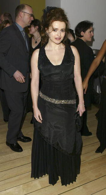 "Helena Bonham Carter at the after party for the premiere of ""Big Fish"" in London."
