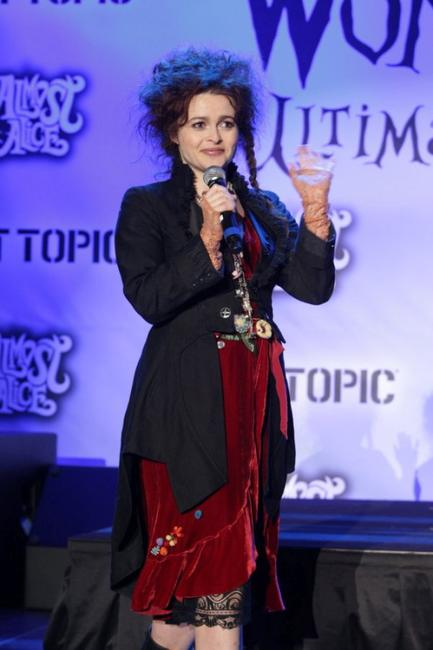 Helena Bonham Carter at the Alice In Wonderland Ultimate Fan Event.