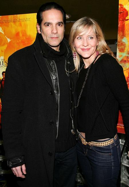 Yul Vazquez and Linda Larkin at the premiere of
