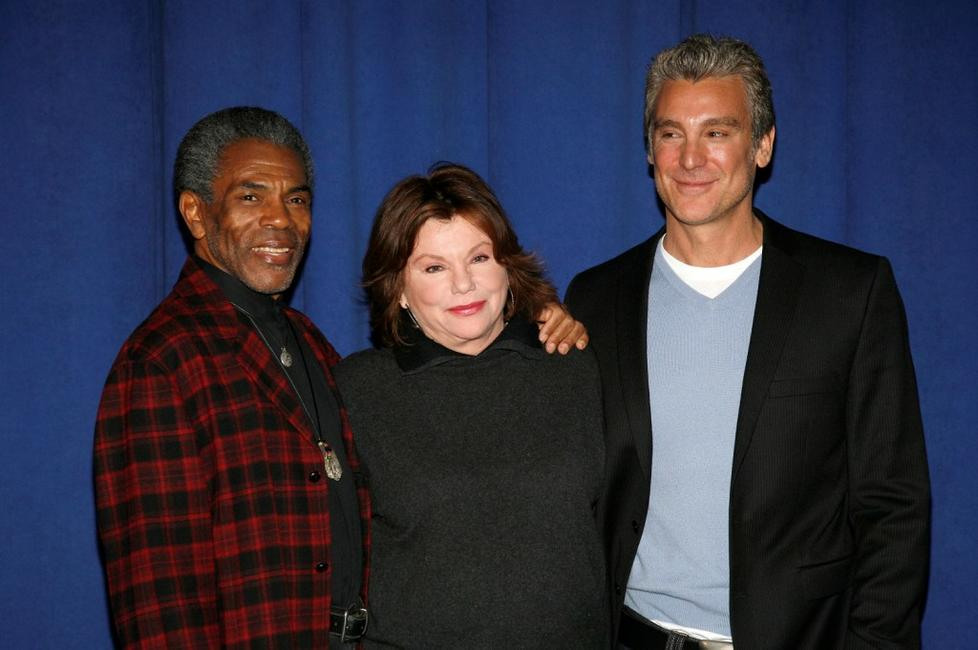 Andre De Shields, Marsha Mason and Michael T. Weiss at the meet-and-greet for the Off-Broadway show